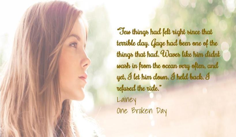 Teaser # 1 One Broken Day Lainey